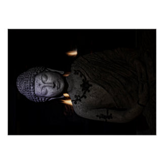 Be the light in the world, Buddha Poster