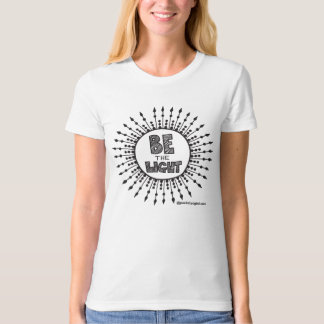 Be the Light Organic T-shirt Black Print