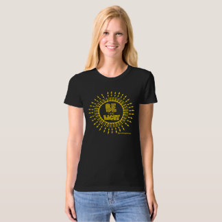 Be the Light Organic T-shirt Gold Print