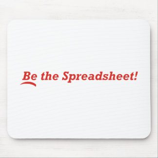 Be the Spreadsheet Mouse Pad