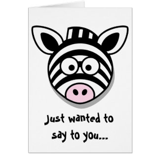 Be There For You Zebra Greeting Card