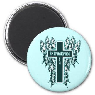 Be Transformed – Romans 12:2 6 Cm Round Magnet