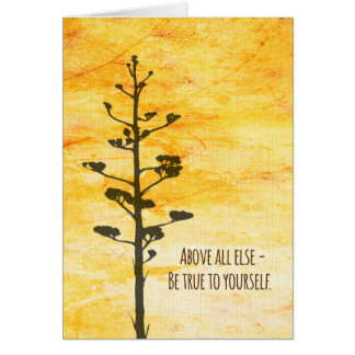 Be True to Yourself Happy Birthday Card