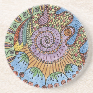 """Be Undefined"" Mandala Sandstone Coaster"