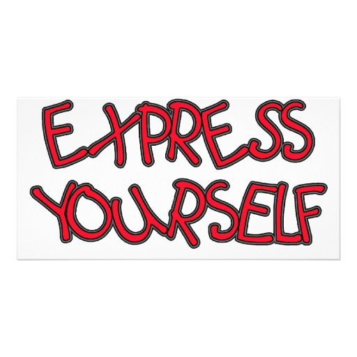 Be Unique and Express Yourself Personalized Photo Card