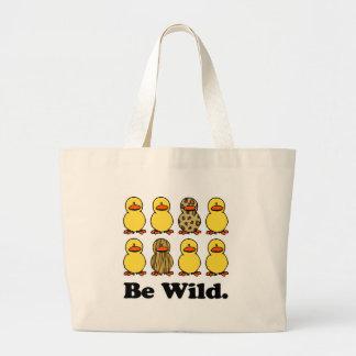 Be Wild Ducks Jumbo Tote Bag