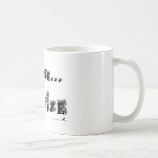 Be wise, minimize coffee mug
