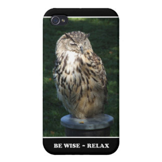 Be Wise - Relax Motivational theme iPhone 4 Case