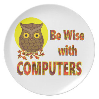 Be Wise With Computers Plate