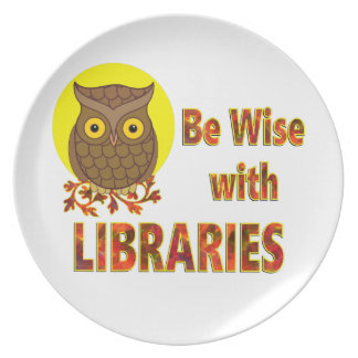 Be Wise With Libraries Plate