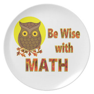 Be Wise With Math Plate