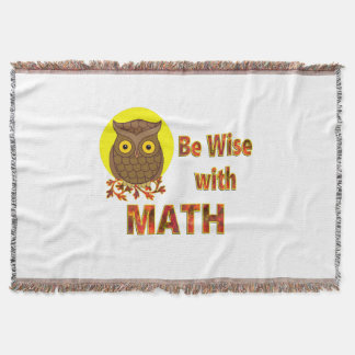 Be Wise With Math Throw Blanket