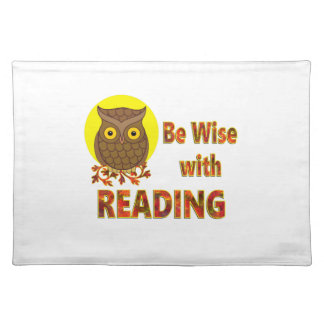 Be Wise With Reading Placemat