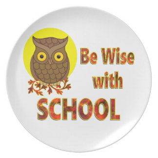Be Wise With School Plate
