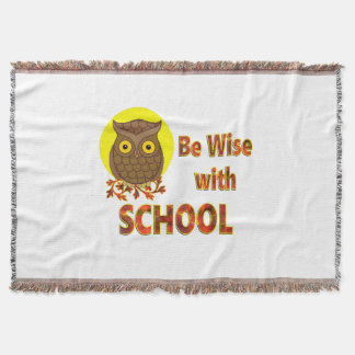 Be Wise With School Throw Blanket