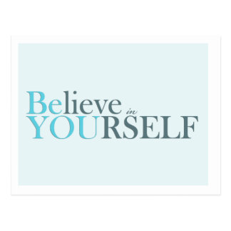 Be You - motivational postcard