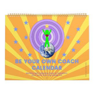"BE YOUR OWN COACH CALENDAR-Large: 11""l x 14.25""w Calendar"