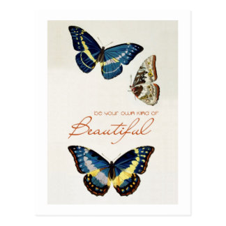 Be Your Own Kind of Beautiful. Monarch butterflies Postcard