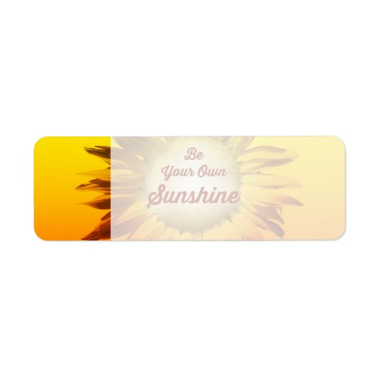 Be Your Own Sunshine Sunflower Red Yellow Ombre Return Address Label