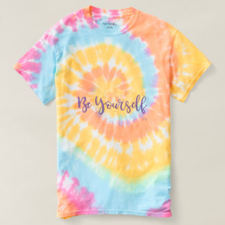 Be Yourself 70s Cool GroovyTie-Dye T-Shirt