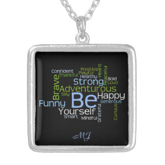 BE Yourself Inspirational Word Cloud Jewelry