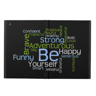 BE Yourself Inspirational Word Cloud Powis iPad Air 2 Case