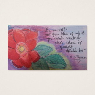be yourself is powerful tool for inspiration business card