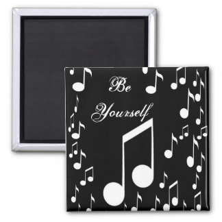 Be yourself_ Magnet_by Elenne Boothe Square Magnet