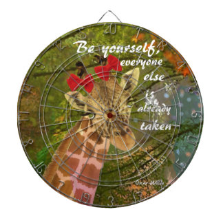 Be yourself no matter others say dartboard