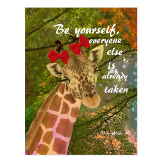 Be yourself no matter others say postcard