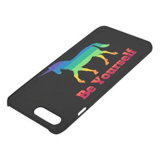 Be Yourself Rainbow Unicorn iPhone 7 Plus Case