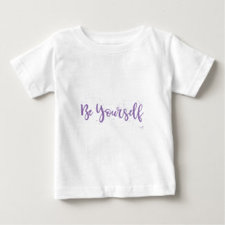 Be-Yourself-Typography-Purple Baby T-Shirt
