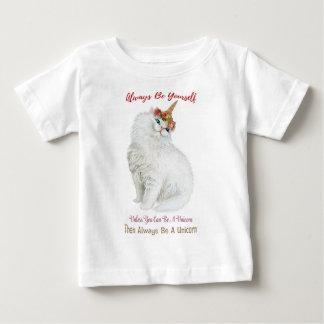 Be Yourself Unicorn Cat Baby T-Shirt