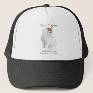Be Yourself Unicorn Cat Trucker Hat