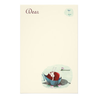 Bea and the Cocco in love Customized Stationery