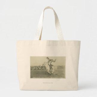 Bea Kirnan trick riding. Large Tote Bag