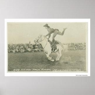 Bea Kirnan trick riding. Poster