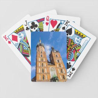 Beaautiful Krakow, Mariacki church, various gifts Bicycle Playing Cards