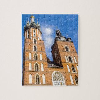 Beaautiful Krakow, Mariacki church, various gifts Jigsaw Puzzle