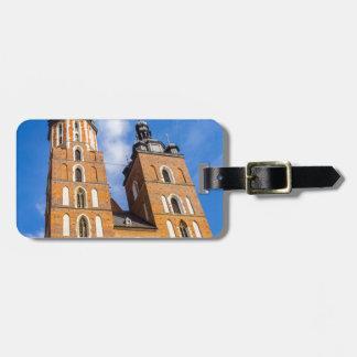 Beaautiful Krakow, Mariacki church, various gifts Luggage Tag