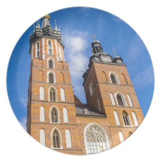 Beaautiful Krakow, Mariacki church, various gifts Plate