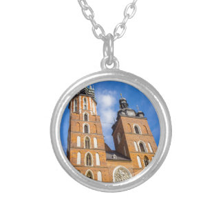 Beaautiful Krakow, Mariacki church, various gifts Silver Plated Necklace