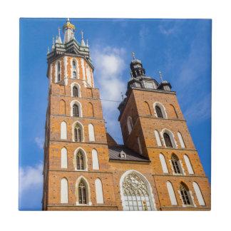 Beaautiful Krakow, Mariacki church, various gifts Tile