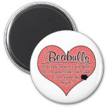 Beabull Paw Prints Dog Humour Magnet