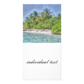 beach 08 personalized photo card
