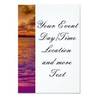 """Beach 18 3.5"""" x 5"""" invitation card"""