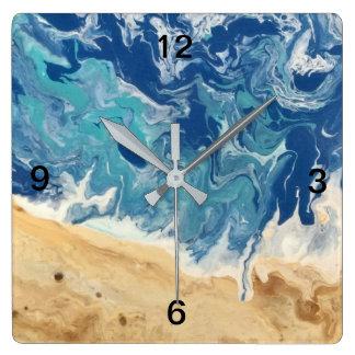 Beach Abstract Art Clock