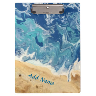 Beach Abstract Clip Board