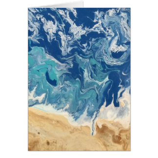 Beach Abstract Note Card
