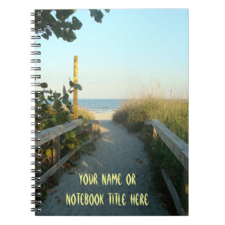 Beach Access Personalized Notebook